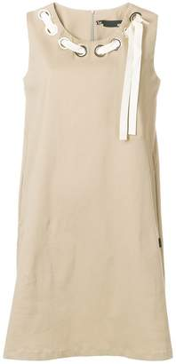 Love Moschino woven neck shift dress