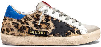 Golden Goose Superstar Sneaker in Snow Leopard & Royal | FWRD