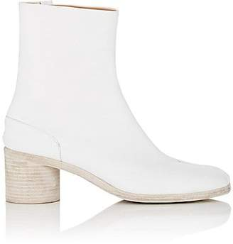 Maison Margiela Men's Tabi Leather Ankle Boots - White