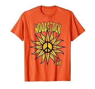 Woodstock T Shirt - NY Sunny Sun Sunshine and Peace Symbol
