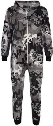 A2Z 4 Kids® Kids Onesie Girls Boys Camouflage Print All in One Jumsuit Playsuit 5-13 Years