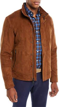Peter Millar Men's Aston Stretch-Suede Blouson Jacket
