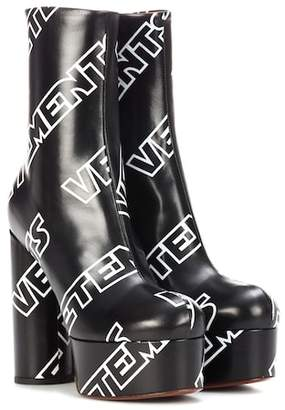Vetements Printed ankle boots
