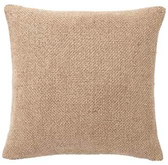 Pottery Barn Faye Textured Linen Pillow Cover - Bronze