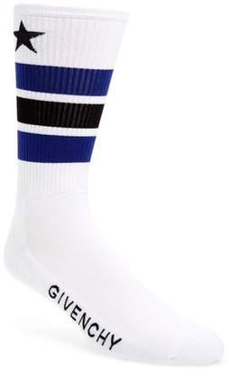 Givenchy Logo Stripe Socks