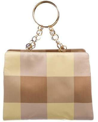 Versace Checkered Handle Bag