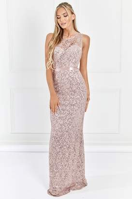 Next Womens Sistaglam Sequin Bridesmaid Maxi Dress