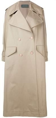 Alberta Ferretti oversized trench coat
