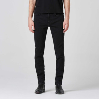 DSTLD Mens Skinny Jeans in Black Worn