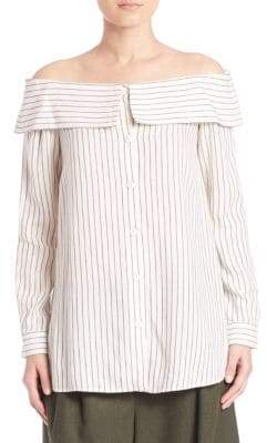 Tibi Frederic Stripe Shirting Top