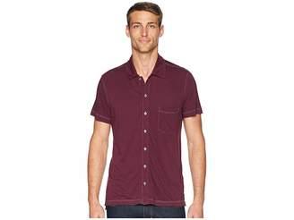 Agave Denim Fort Point Short Sleeve Full Button Polo Men's Short Sleeve Pullover