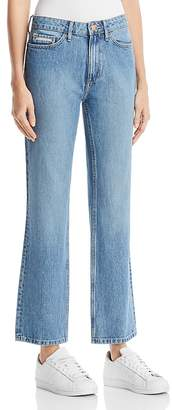 Calvin Klein Jeans High Rise Straight Jeans in Seinne Blue