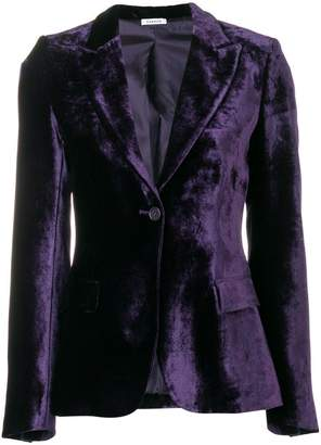 P.A.R.O.S.H. velvet fitted jacket