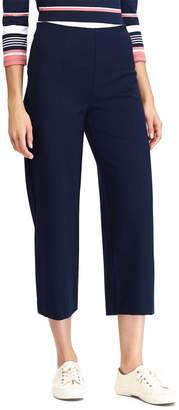 Chaps Women's Crop Midrise Wide-Leg Ponte Pants