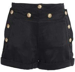 Balmain Button-Detailed Twill Shorts