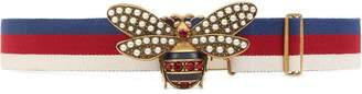 Gucci Sylvie Web belt with bee