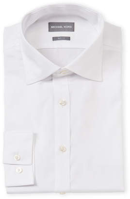Michael Kors Slim Fit Twill Dress Shirt
