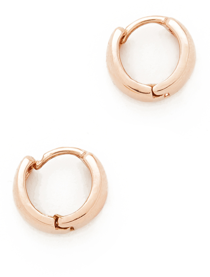 Adina Adina Reyter Wide Huggie Hoop Earrings