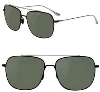 Vuarnet Swing 58mm Polarized Navigator Sunglasses