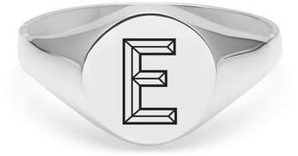 Myia Bonner Silver E Facett Initial Signet Ring
