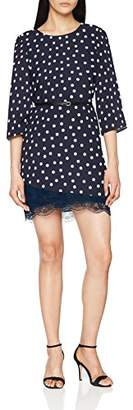 Liu Jo Ladies Dress W18040T9052, Multicolor (Pois Med Antr.B / B.OT V9018), (Manufacturer Size: 44)