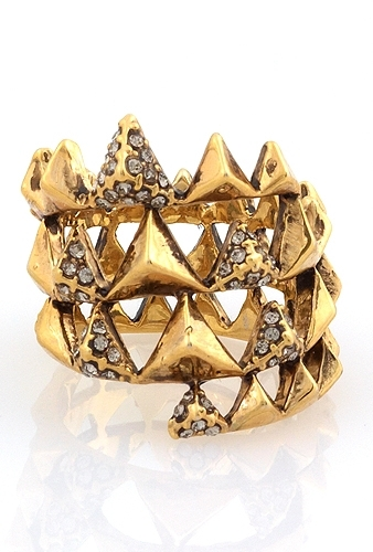 House of Harlow 1960 Pyramid Wrap Ring