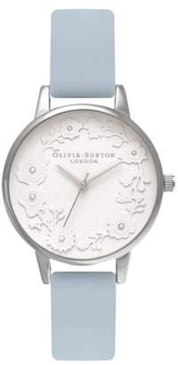 Olivia Burton Artisan Dial Leather Strap Watch, 30mm