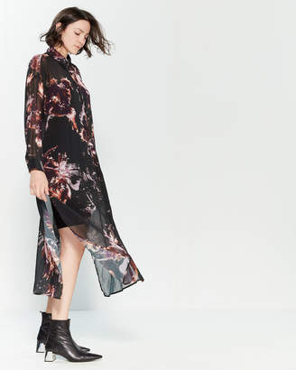 Religion Allure Floral Print Maxi Dress