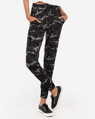 Express One Eleven Camo Drawstring Terry Jogger Pant