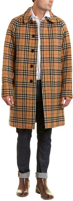 Burberry Vintage Check Alpaca & Wool-Blend Car Coat