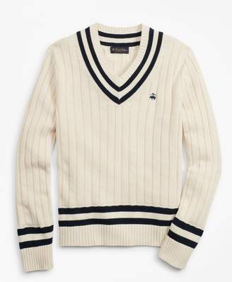 Brooks Brothers Tennis V-Neck Sweater