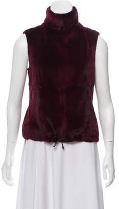 Plein Sud Jeans Fur Sleeveless Top