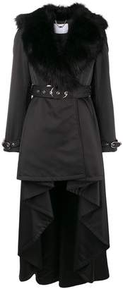 Elisabetta Franchi long belted trench coat