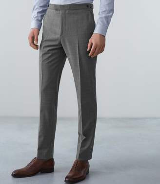 Reiss BELIEF MODERN FIT TRAVEL SUIT TROUSERS Soft Grey