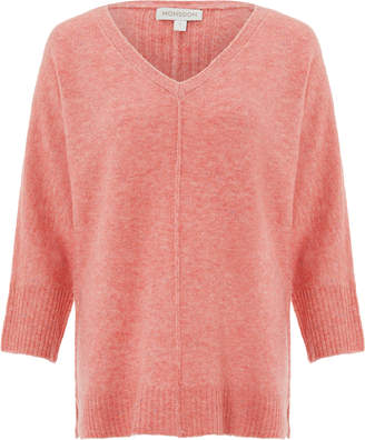 Monsoon Perrie Pretty Nep Boxy V Neck Jumper