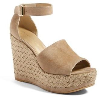 Women's Stuart Weitzman Sohojute Platform Wedge Sandal $455 thestylecure.com