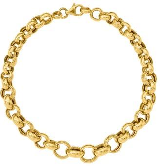 14K Gold Rolo Link Bracelet, 6.9g