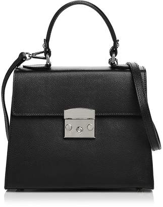 Aqua Top Handle Leather Satchel - 100% Exclusive