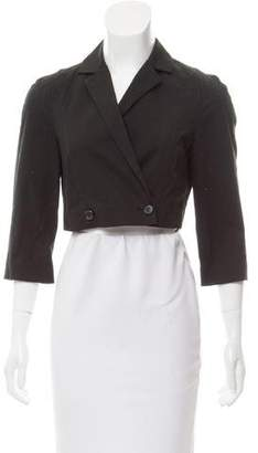 Narciso Rodriguez Cropped Notched Lapel Jacket