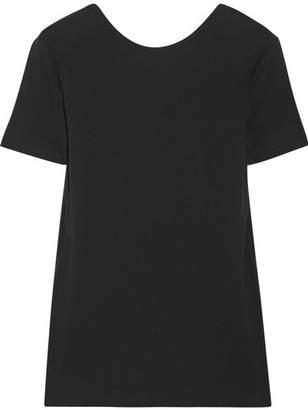 Rosetta Getty Open-back Cotton T-shirt - Black