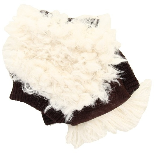 San Diego Hat Company KNG3126 Faux Fur Fingerless Gloves (Ivory) - Accessories