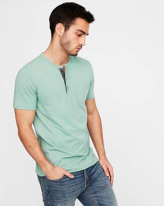 Express Striped One Pocket Henley