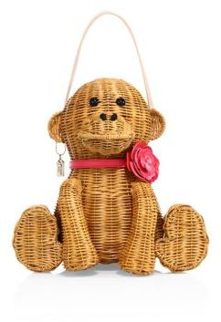 Kate Spade Kate Spade New York Rambling Roses Wicker Monkey Bag