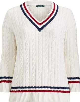 Ralph Lauren Cable-Knit Cricket Sweater