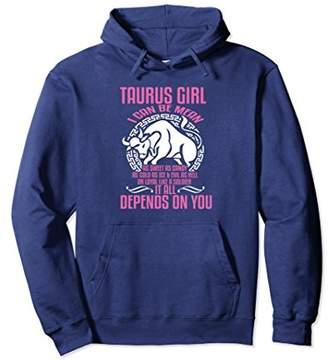 Taurus Girl Depends On You Zodiac Birthday Hoodie