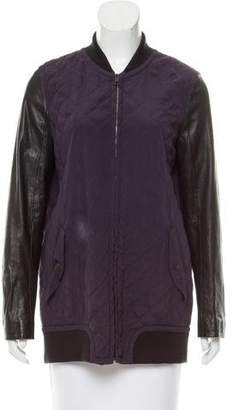 Rag & Bone Leather-Accented Quilted Jacket