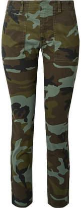 Nili Lotan Jenna Camouflage-print Stretch-cotton Slim-leg Pants - Green