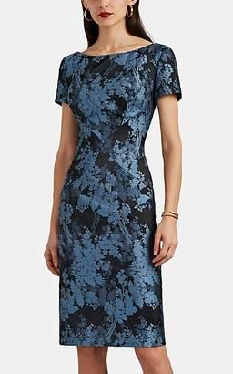 Zac Posen Women's Floral Jacquard Dress - Blue Pat.