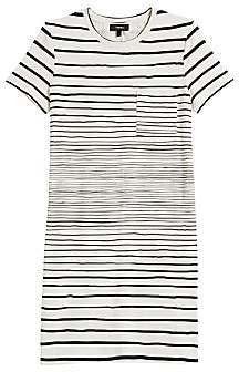 Theory Women's Continuous Stripe Pocket T-Shirt Dress