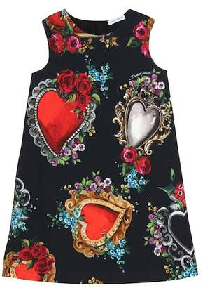 Dolce & Gabbana Printed stretch jersey dress